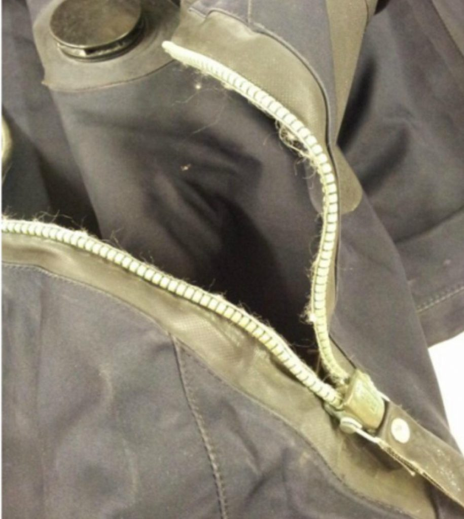 Drysuit Zip Repairs